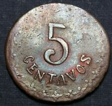 1914 Mexico Revolutionary Estado De Durango Copper 5 Centavos 1 Year Type 23 mm