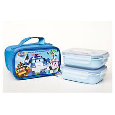 (Last) Robocar Poli stainless 2 tier lunchbox / Poli lunch box (standard&sweety)