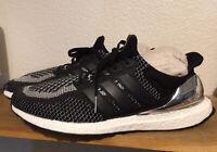 Men's Adidas Ultraboost 2.0 LTD Silver Medal Pack Sz 13 Black Running Sho BB4077