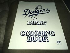 Los Angeles Dodgers 1960s Diary Coloring Book Sandy Koufax Don Drysdale & More