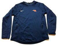 Nike Mens Blue Zipper Pockets Long Sleeve Athletic Shirt Size Large