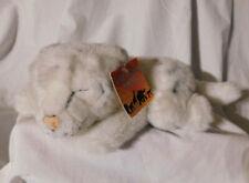 "11"" L Rainforest Cafe White Tiger Cub Plush Laying Down Cat Wild Animal Parade"