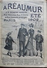 "TRES JOLI CATALOGUE DE MODE ""A REAUMUR"" ETE 1902"