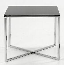 Glazen Tafel Mono zwart bijzettafel
