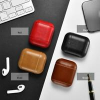 Genuine Leather Headset Case Protective Bag Charging Cover For Apple AirPods
