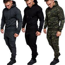 Herren Cargo Stil Sportanzug Jogginganzug Trainingsanzug Sporthose+Hoodie R28