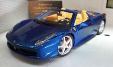 Véhicules miniatures bleus pour Ferrari