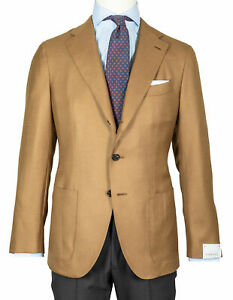 """Caruso Jacket IN Brown Beige With Patch Pockets """" Pure Cashmere """" RegEUR1690"""
