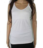 Designer Brand Women's Top Solid White Size Medium M Nursing Tank Stretch #504