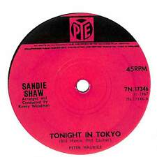"Sandie Shaw - Tonight In Tokyo - 7"" Record Single"