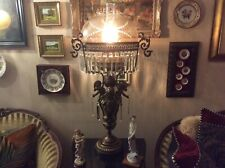 Antiques Victorian Three Cherub Bronzed Banquet Lamp