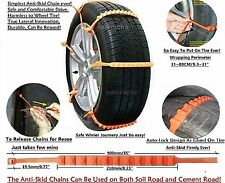 Universal Emergency Traction Aid Snow Mud Tire Chains for Car SUV Transportation