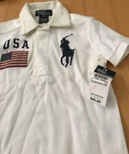 Polo & Children's Place BOYS Lot Of 4 Bathing Suits And Polo Shirts