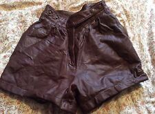 Topshop  real leather high waist shorts size 6