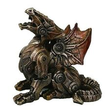Steampunk Metal and Gears Dragon Figurine Mythical Fantasy Decoration Steam Punk