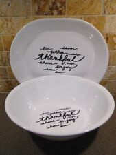 *New Corelle CELEBRATIONS THANKFUL Serving Piece >>Choose: PLATTER or 2-Qt BOWL