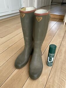 Aigle Leather Lined Wellington Boots (Wellies) - Size 44 (UK 10)