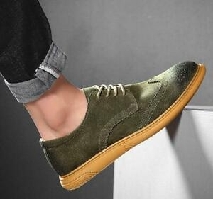 Mens Breathable Retro Wild Lace Up Wing Tip Carved Brogue Shoes Lace Up Pumps