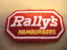 """RALLY'S HAMBURGERS NEW 3""""X2"""" CLOTHING PATCH"""