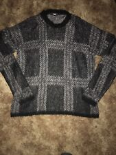 Versace Versus Black Plaid Check Sweater Size 42 Chest