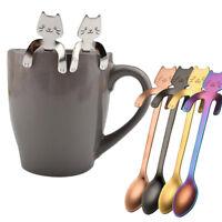 Dessert spoon Long Handle Teaspoon Flatware Coffee Drinking Tools Kitchen Gadget