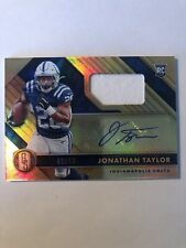 2020 Gold Standard JONATHAN TAYLOR Jersey Autograph /99 Indianapolis Colts Auto