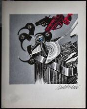 VALERIANO TRUBBIANI stampa Scena Venatoria  handsigned 30x23,5 anno 1972