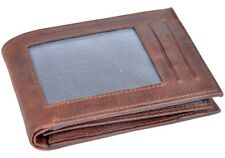 OHM Leather New York Natural Grain Front ID Wallet