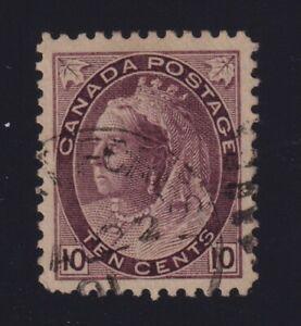 Canada Sc #83 (1898) 10c brown violet Numeral Duplex VF Used