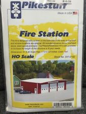 Pikestuff 192 HO Fire Station  - RED (kit)   MODELRRSUPPLY       $5 Coupon Offer