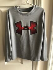 UNDER ARMOUR HEAT GEAR BOY'S LONG SLEEVE TOP Grey Gray SIZE YOUTH SMALL
