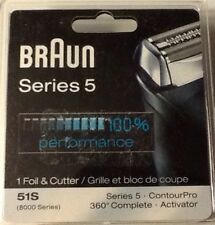 Braun Series 5 51S-(8000) Series - Foil & Cutter Replacement Head Silver