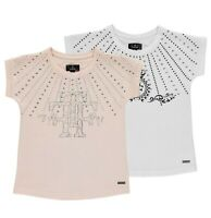 Girls Firetrap Crew Short Sleeves Cotton Embellished T Shirt Sizes from 5 to 13