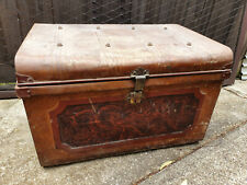VINTAGE RETRO METAL TRUNK/CHEST LOTS OF CHARACTER