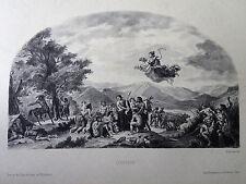 Eugene DELACROIX gravure lithographie par Sirouy Ophée au Palais Bourbon paris