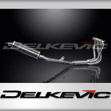 """Honda CB1100 X11 Full 4-1 Exhaust Stubby 14"""" Carbon Oval Muffler 99 00 01 02 03"""