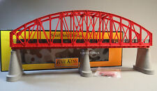 MTH REALTRAX LIGHTED STEEL ARCH BRIDGE LED CHRISTMAS LIGHT O GAUGE train 40-1115