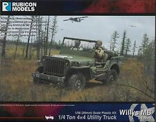 Rubicon Models Willys MB ¼ ton 4x4 Truck (US Standard) 1/56 scale (28mm) New!