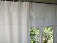 Vorhang Crystal WEISS Schlaufen Gardine 120x240 Lillabelle Shabby Vintag