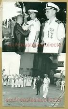 Vietnam General Ng văn Vỹ awarding Medal to Percy A. Lilly & Sam H. Moore in USS