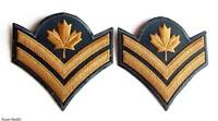 Canadian Army Pair Obsolete Garrison Dress Master Corporal Rank Insignia