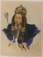 Alexandre Iacovleff La croisière jaune lithogrpahie 1931 Asie