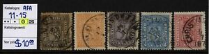 NORWAY AFA 11-15. Coat of Arms 1863.