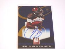 2015 PANINI ELITE CHARLES SIMS AUTOGRAPH ROOKIE CARD TAMPA BAY