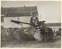 Jan 1945 US Signal Corps Reprint Photo German Panther G Tank knocked out by US