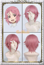 Japan Anime Sword Art Online Lisbeth Cosplay Wig Hair Synthetic Wigs NEW
