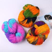 Craft Wool Knitting Yarn Hand Crochet Accessories DIY Sweater Colorful Supplies