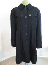 London Fog Black Trench coat Ladies M Rain Lined