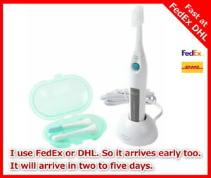 SMILEX AU-300D Toothbrush Lavender 1.6MHz Ultrasonic Electric 2 Packs of spare