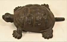 Antique Vintage Cast Iron Turtle Door Stop Marked c. 1920